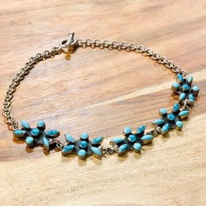 Jewelry - Genuine Silver & Turquoise necklace